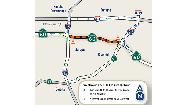 60 Freeway Closures Come to an End Tomorrow Night