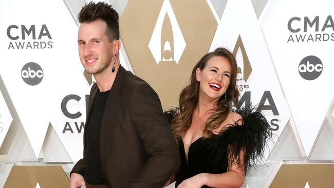 Russell Dickerson Explains Why He Rocked Wife's Earring On CMA Red Carpet
