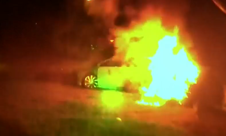 National News - Police in Virginia Pull Woman Out of Burning Vehicle Following Crash