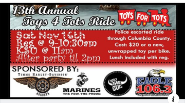 Photos - Toys For Tots Charity Ride @ Timm's Harley Davidson 11/16/19