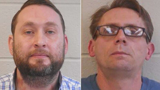 Bradley Rowland, 40, left, and Terry Bateman, 45,