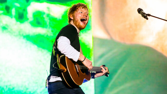 Edward Christopher Sheeran, English singer, songwriter,