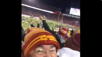 The Sports Fanatics with Chris Williams and Ross Peterson - Cyclone Fan Celebrates Game Winner v Texas