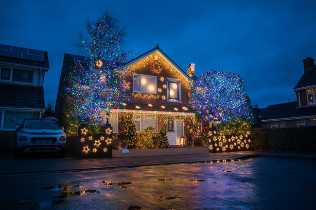 'Britain's Most Festive Street' Lights Up Again