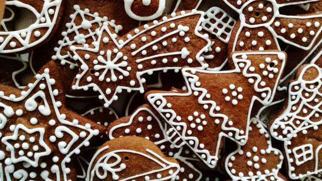 Full Frame Shot Of Gingerbread Cookies