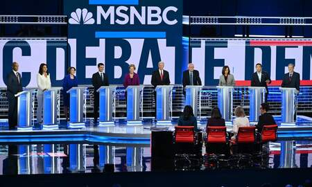 National News - Democratic Presidential Candidates Mix it Up in Primary Debate in Atlanta