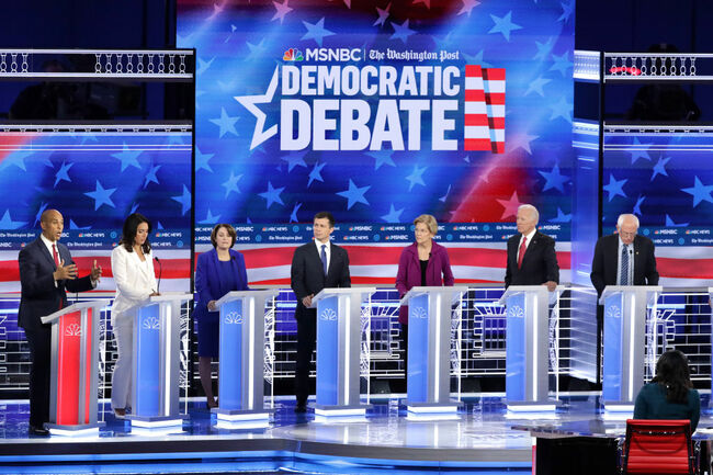 Democratic Presidential Candidates Participate In Debate In Atlanta, Georgia