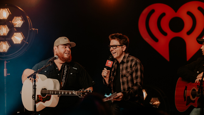 Luke Combs with Bobby Bones