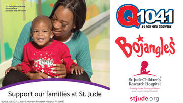 Q104.1's St. Jude Country Cares - Support St. Jude and Donate at Participating Bojangles'