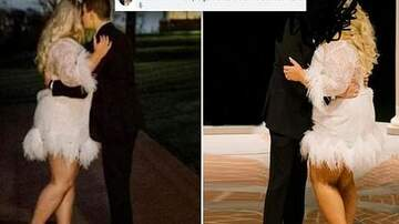 Conrad - Bride blasted for wearing $1K SNEAKERS with 'hideous' short feathered dress