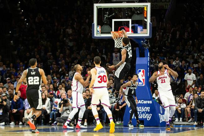 San Antonio Spurs v Philadelphia 76ers