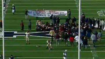 Sports Top Stories - Harvard-Yale Football Game Delayed After Climate Protesters Storm The Field