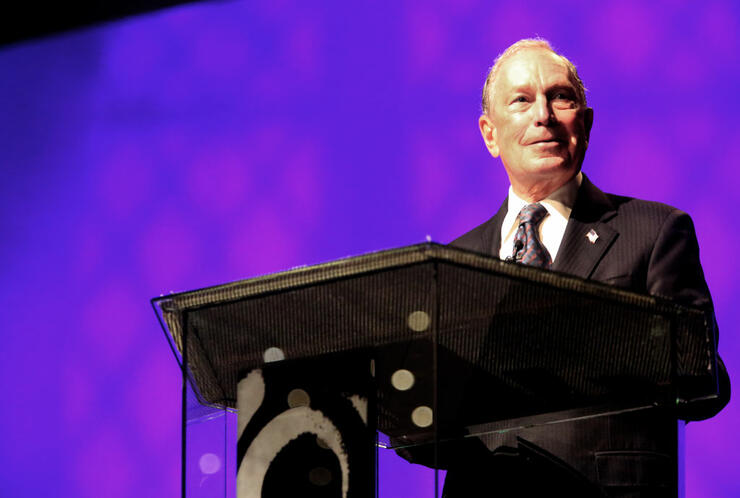 Michael Bloomberg Speaks At Predominantly Black Church In Brooklyn, New York