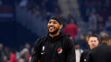 None - Thunder Face Old Pal Carmelo Anthony Tonight