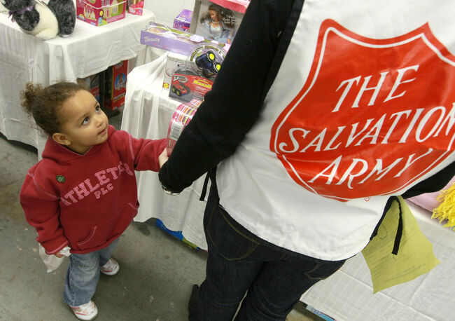 Salvation Army Holds Toy Giveaway For  Families In Need