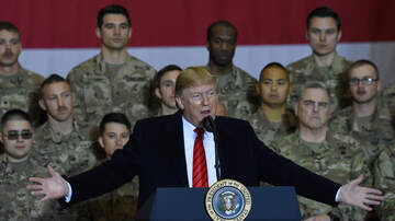 Politics - President Donald Trump Makes Surprise Visit to U.S. Troops in Afghanistan