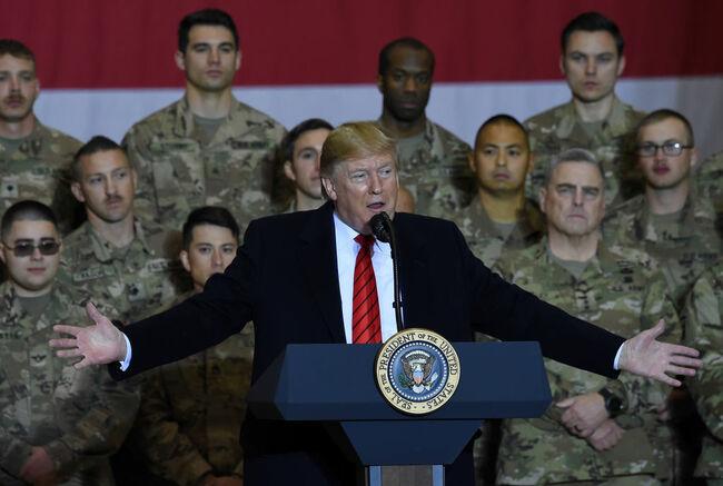 AFGHANISTAN-US-TRUMP-THANKSGIVING