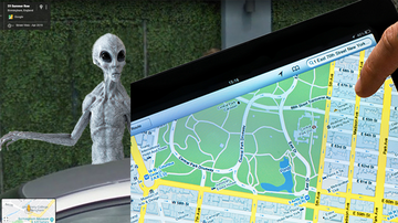 Weird, Odd and Bizarre News - Freaky Green-Faced Alien Or Demon Shows Up On Google Maps' Street View