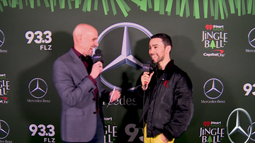 Jingle Ball - Max in the Mercedes-Benz Interview Lounge