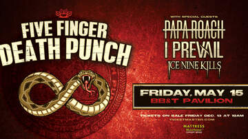 image for Five Finger Death Punch with Papa Roach at BB&T Pavilion 5/15/20