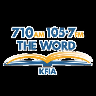 710AM 105.7FM The Word   logo