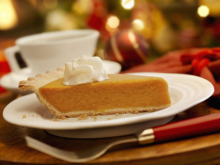 Pumpkin Pie at Christmas Time