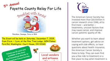 None - Fayette County Relay for Life: Breakfast with Santa