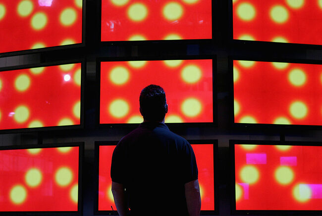 Workers Prepare Consumer Electronics Show For Opening