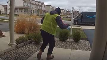 Patrick Sanders - Amazon Delivery Driver Caught On Camera Doing A Happy Dance After Delivery!