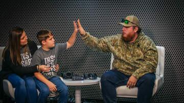 Bobby Bones - St Jude Radiothon: Luke Combs Surprises St. Jude Patient In Studio