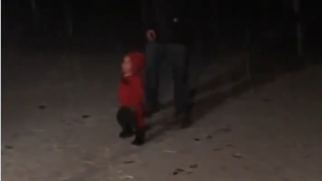 JB - ***VIDEO***  Toddler Experiences Snow for the First Time