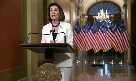National News - Nancy Pelosi Says House Moving Forward With Articles of Impeachment