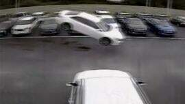 Justice & Drew - Watch: Toyota Camry jumps 139 feet into parking lot