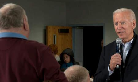 National News - Joe Biden Has Testy Exchange With Iowa Voter Who Questions Him On Ukraine