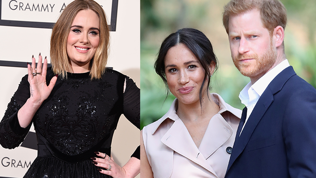 Meghan Markle & Prince Harry Hang With Adele In Previously Unseen Photos