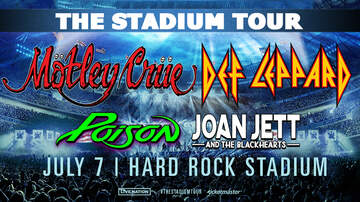 image for Mötley Crüe | Def Leppard - Tuesday, July 7th @ Hard Rock Stadium