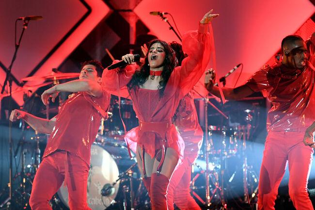 Camila Cabello Celebrates the Release of 'Romance' at KIIS FM's Jingle Ball