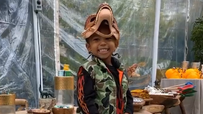 Kim Kardashian Throws Son Saint A 'Jurassic Park'-Themed Birthday Party