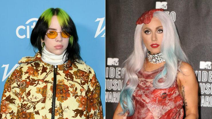 Billie Eilish Hits Back At Lady Gaga Fan Backlash Over Meat Dress Remark   iHeartRadio