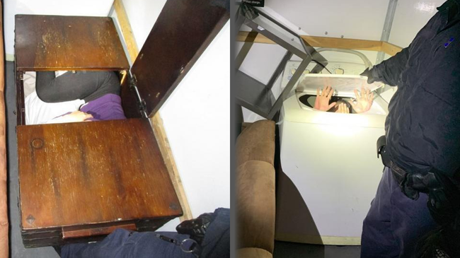 Eleven Chinese Nationals Discovered Inside Furniture While Crossing Border