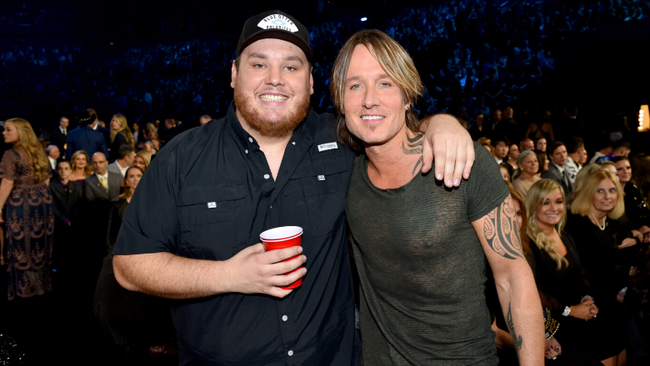 Luke Combs Surprises Crowd With Keith Urban, Thomas Rhett At Nashville Show