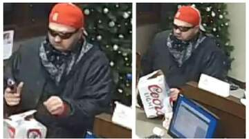 1110 KFAB Local News - Surveillance shots show Coors Light bank robber in Lincoln with gun PHOTOS