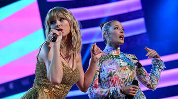 iHeartRadio Music News - Halsey Surprises Taylor Swift With Tons of Jingle Ball Birthday Balloons!