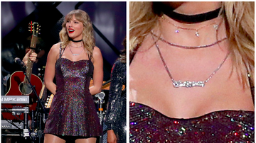 iHeartRadio Music News - What Does Taylor Swift's 2019 Jingle Ball Necklace Say? Internet Reacts