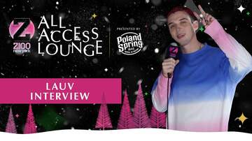 Z100's Jingle Ball - LAUV Admits His Music At 13 Was 'Awful'
