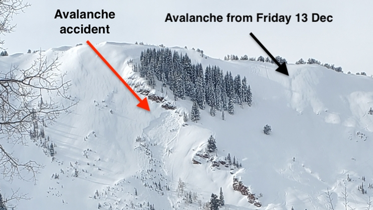 Snowboarder dies in avalanche he triggered