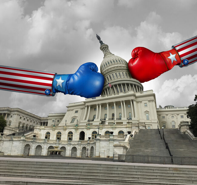 USA Government Fight - Getty Images