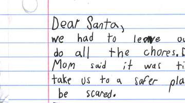 Laura - Boy in domestic abuse shelter asks Santa for a 'very, very, very good dad'