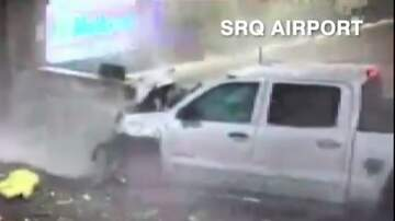 Big Rig - VIDEO: Truck PLOWS Through SRQ International Airport!