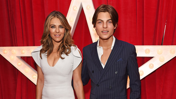 Trending - Elizabeth Hurley And Son Damian Look Identical In Christmas Instagram Post
